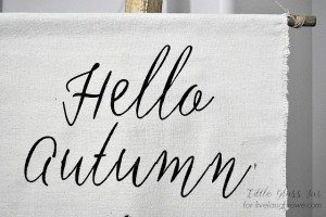 DIY Autumn Banner
