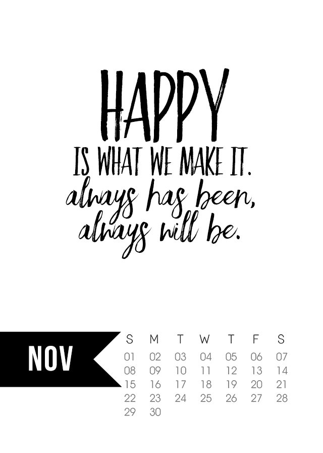 Happy With Printables Calendar November : November calendar printable live laugh rowe