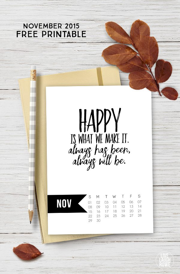 Calendar Quotes For May : November calendar printable live laugh rowe