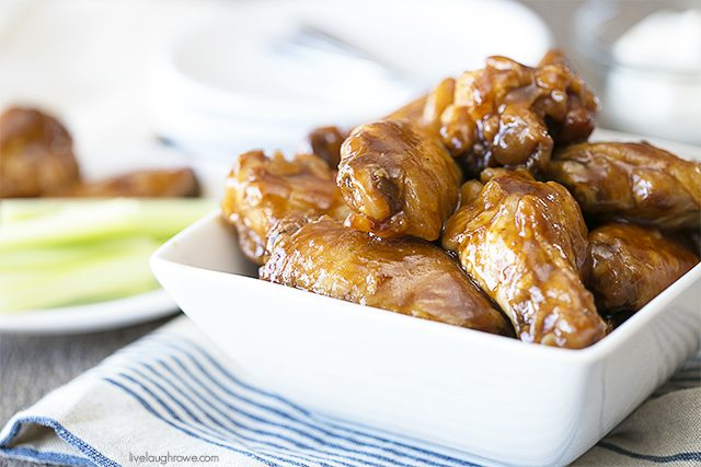 These BBQ Chicken Wings took my love for barbecue sauce to a whole new level! Made in the slow cooker, you'll have a snack or dinner ready in no time! livelaughrowe.com