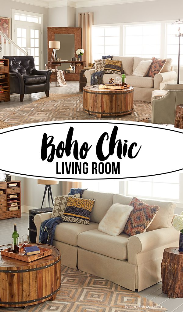 Small Boho Living Room: Boho Chic Living Room For La-Z-Boy Design Dash