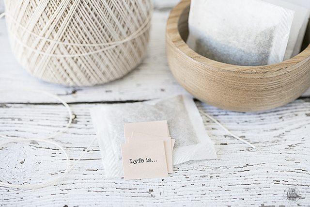 How to make tea bags... the easy way! livelaughrowe.com