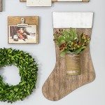 Rustic Wooden Stocking
