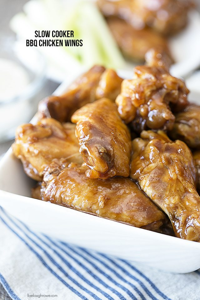 Easy Slow Cooker BBQ Chicken Wings - Live Laugh Rowe