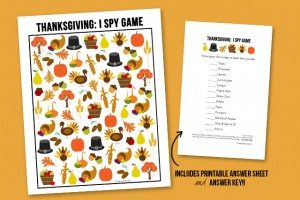 Thanksgiving I Spy Printable