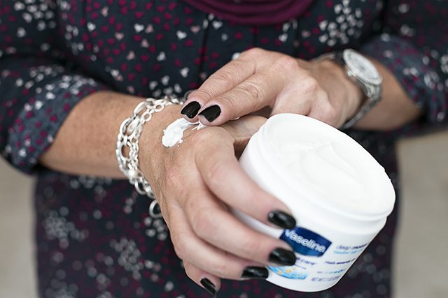 A winter must-have: Vaseline® Intensive Care™ Deep Moisture Jelly Cream instantly increases your skin's moisture by 250%. Infused with Vitamin E, it keeps skin moisturized for 18 hours.