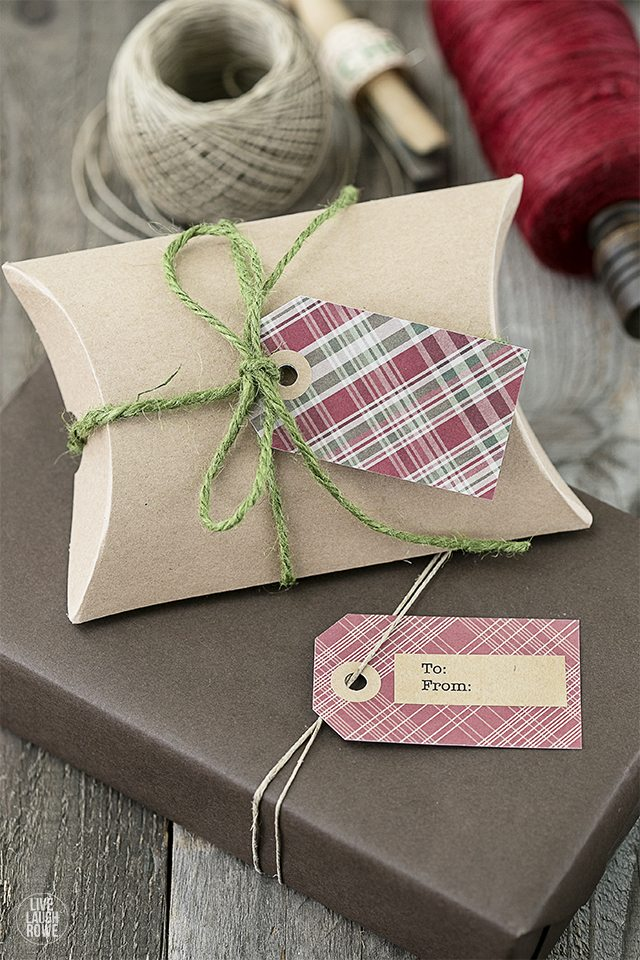 Darling -- and right on trend! FREE Plaid Printable Christmas Gift Tags to add a little extra charmt to you holiday gifting. livelaughrowe.com