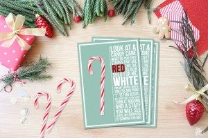 Candy Cane Poem Printable