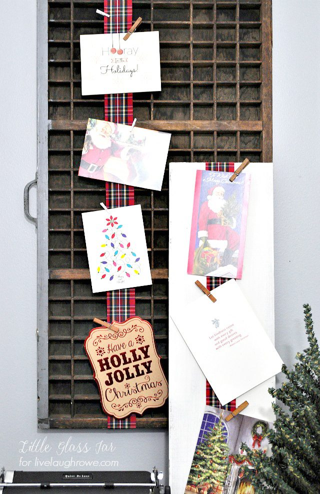 Diy Christmas Card Display Live Laugh Rowe