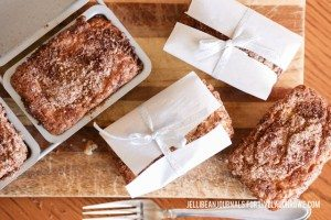 Sour Cream Coffee Cake Mini Loaves