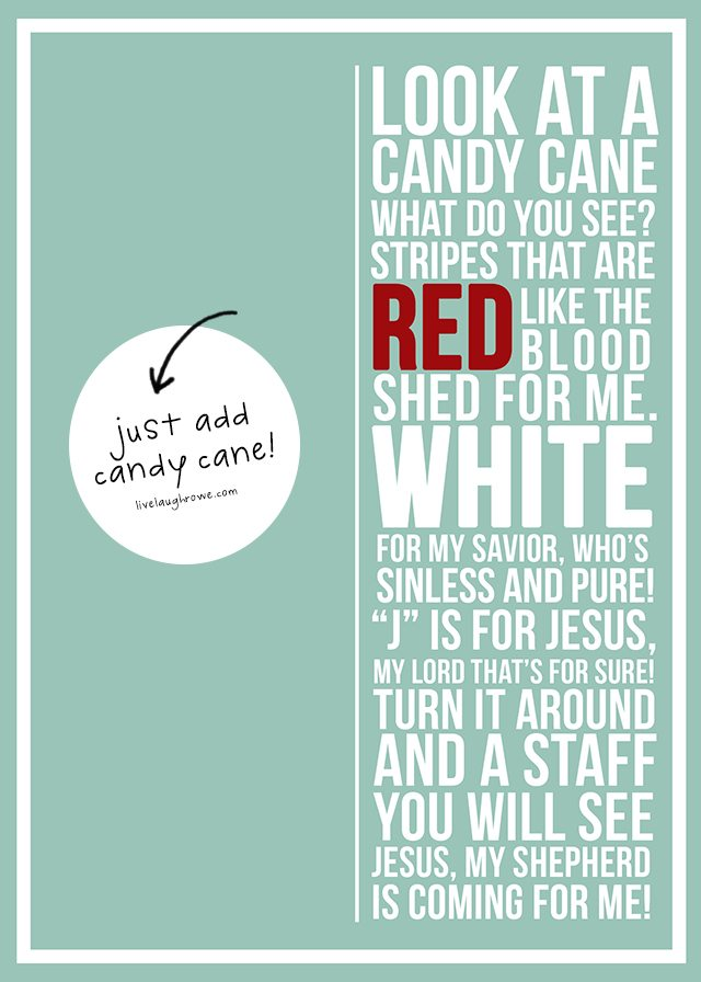 photo relating to Candy Cane Story Printable identified as Sweet Cane Poem Printable - Stay Chortle Rowe