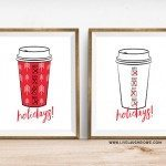Holiday Printables for Coffee Lovers