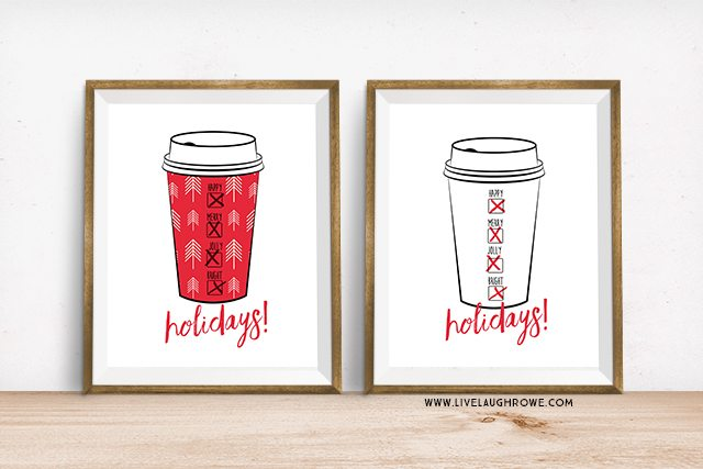 Love these! Perfect Holiday Printables for the Coffee + Tea Lovers. livelaughrowe.com