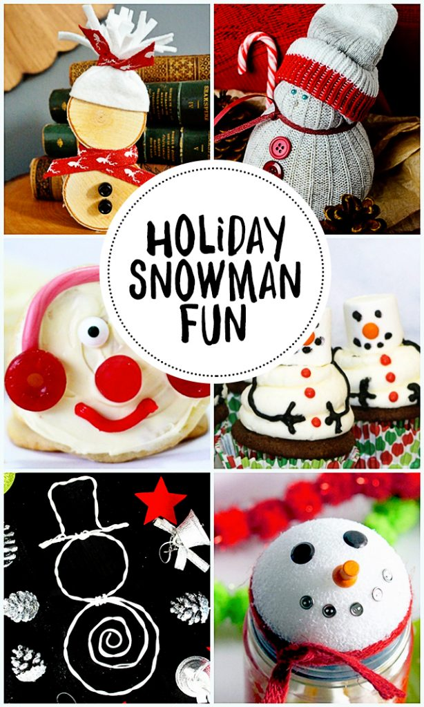 Holiday Snowman fun to inspire some fun in the kitchen or your craft room!