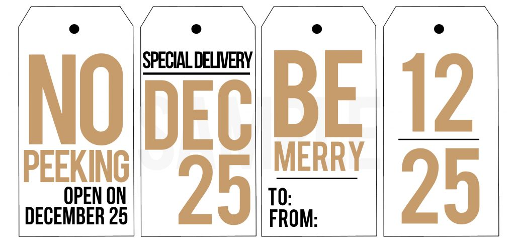 Free Printable Christmas Gift Tags. Four styles in two different colors! livelaughrowe.com