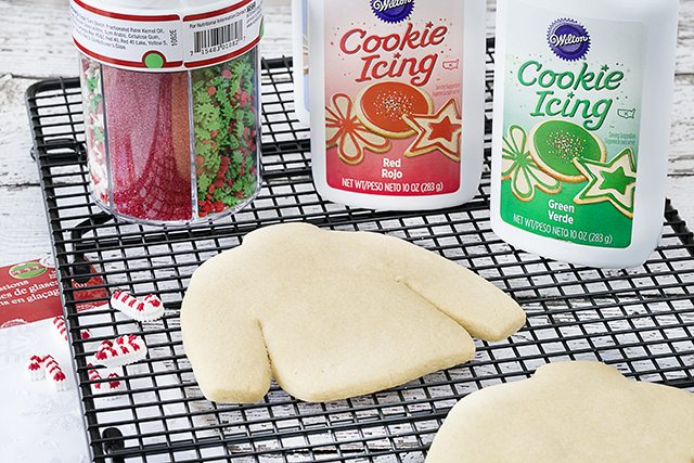 Getting ready to frost the ugly sweater sugar cookies!