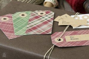 Plaid Printable Christmas Gift Tags