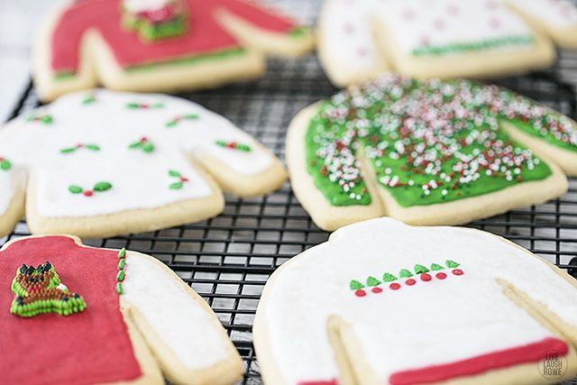 Serve these Ugly Sweater Sugar Cookies at your next ugly sweater party -- or gift to your co-workers! livelaughrowe.com
