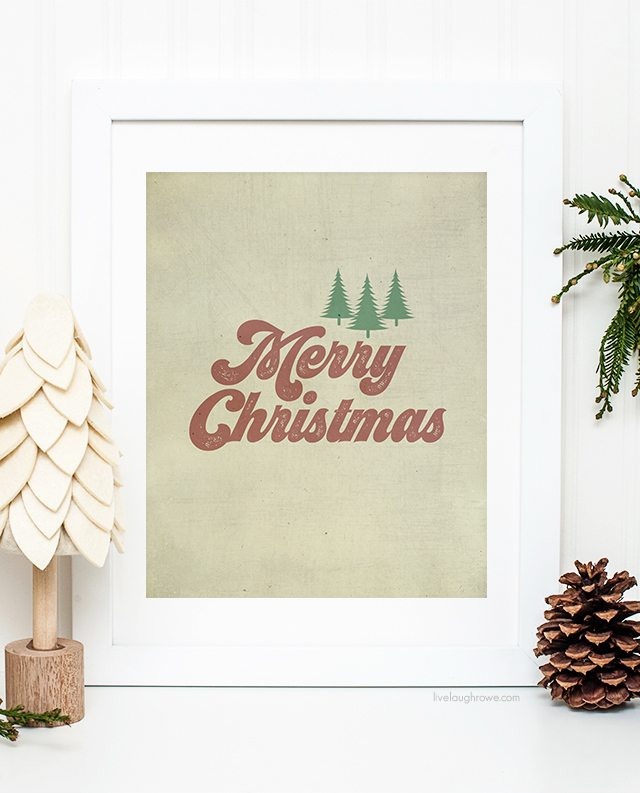 Merry christmas printables vintage inspired live laugh - Vintage inspired wall art ...