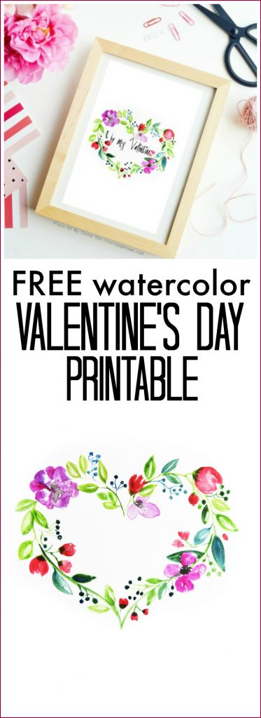 Watercolor Valentine Printable