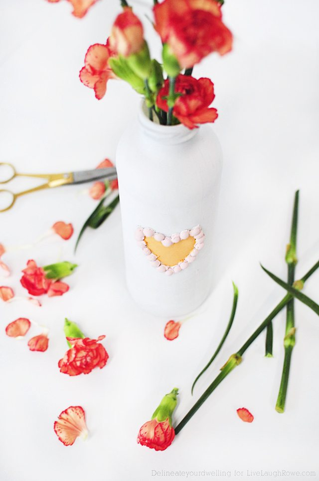 Simple DIY Valentines Decor that is great for gifting or showcasing flowers!