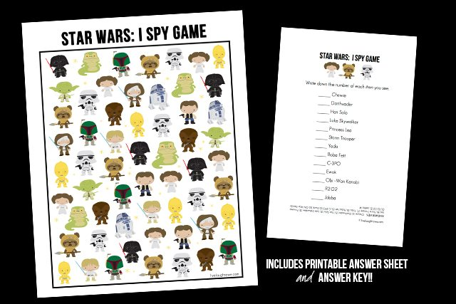 Snatch up this fun and FREE Star Wars Game! I Spy Star Wars Printable ...