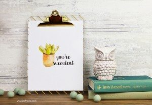 Free Succulent Printable