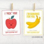 Fruit Valentines for Kids