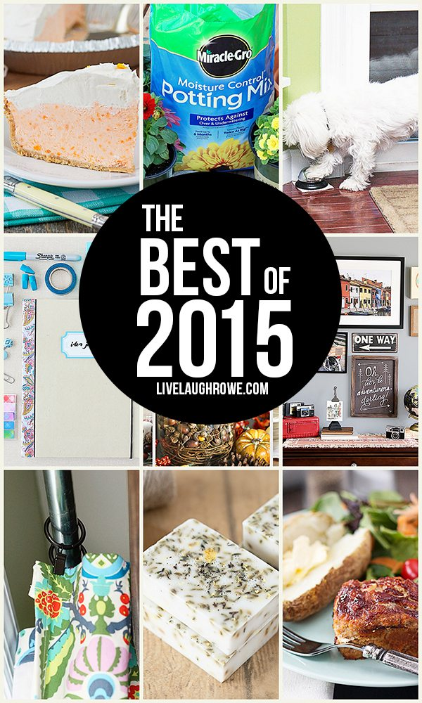 "The ""Best of 2015"" at livelaughrowe.com! Swing by to see what YOU picked."