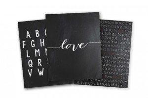 Typographic Prints for Valentine's Day