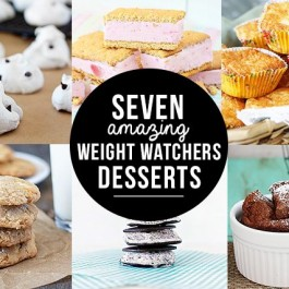 These 7 Must-Try Weight Watchers Desserts are PERFECT for those with a sweet tooth that are watching their waistline too! livelaughrowe.com