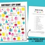 Birthday I Spy Printable