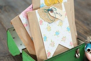 Printable Pennants used in Creative Gift Wrap
