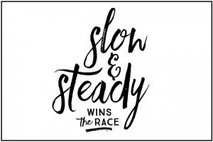 "Sometimes we need to be reminded that ""Slow and Steady Wins the Race."" Loving this free inspirational printable! livelaughrowe.com"