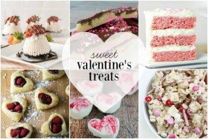 9 Valentine Sweet Treats featured at livelaughrowe.com