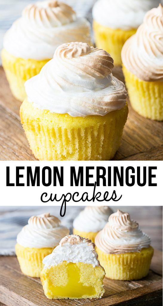 Lemon Meringue Cupcakes With A Surprise Tart Filling