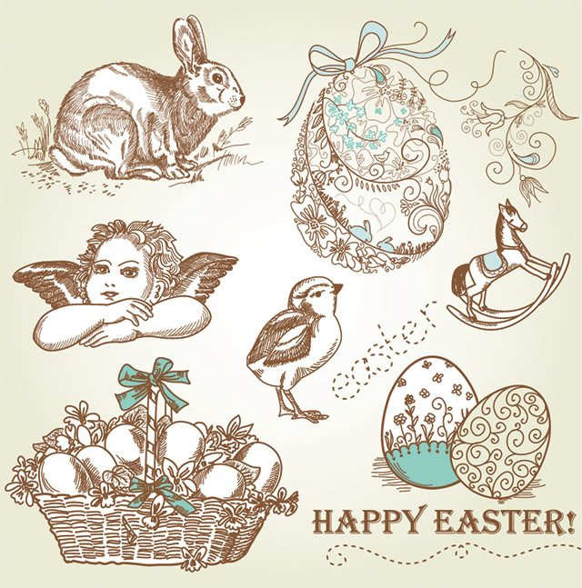 Vintage Inspired Easter Graphics from GraphicStock