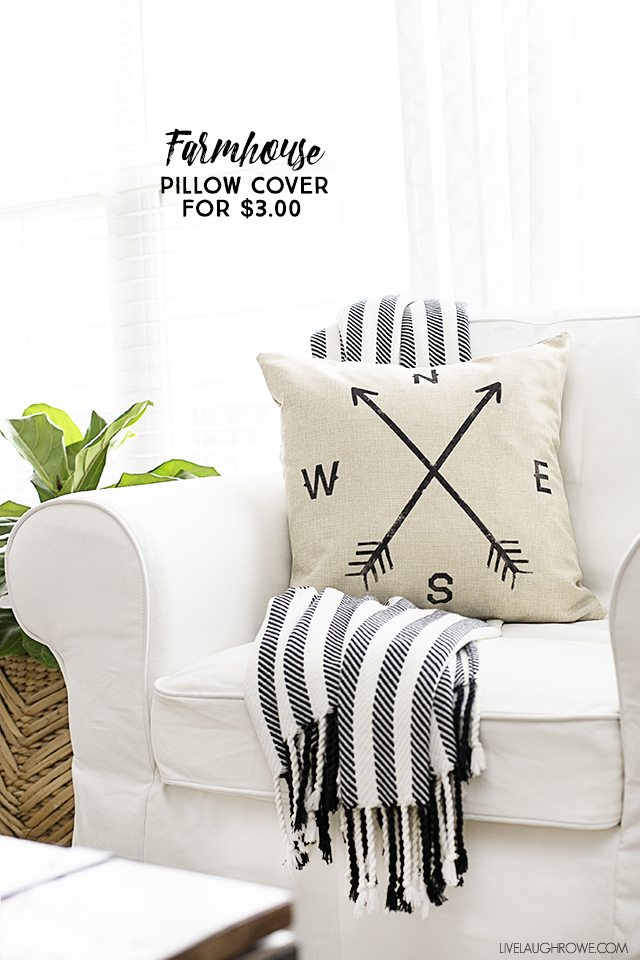This Farmhouse Pillow Cover Is Quite The Score! Perfectly Imperfect And  Costs Only $3.00. Part 83