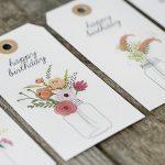 Floral Printable Birthday Gift Tags