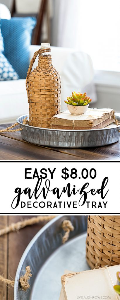 Make your own galvanized metal tray with just two supplies -- and for less than $8.00.  Find this easy DIY tutorial at livelaughrowe.com
