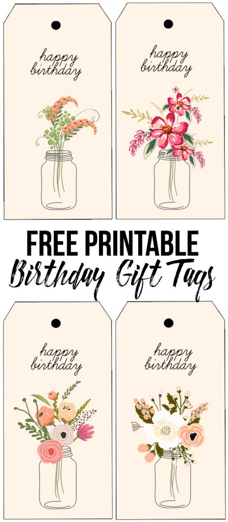 Floral printable birthday gift tags live laugh rowe darling and free printable birthday tags with beautiful florals livelaughrowe negle