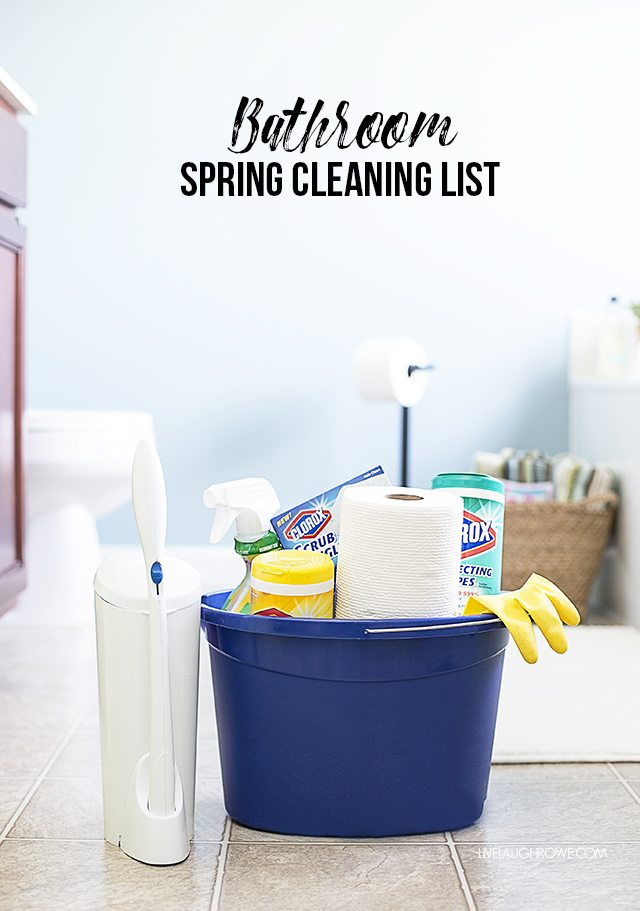 Refresh your bathroom with this thorough Bathroom Spring Cleaning List! livelaughrowe.com