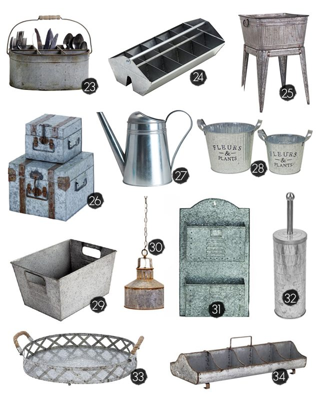 25 Galvanized Home Decor Ideas To Inspire