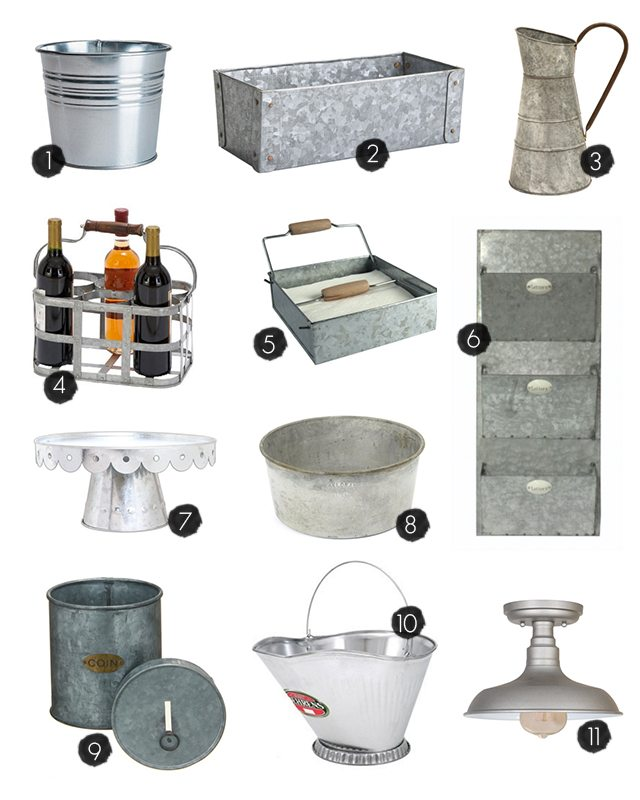 Galvanized Home Decor and Storage Ideas to inspire you! livelaughrowe.com