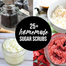 25+ Homemade Sugar Scrub recipes that are perfect to make for gifting! livelaughrowe.com