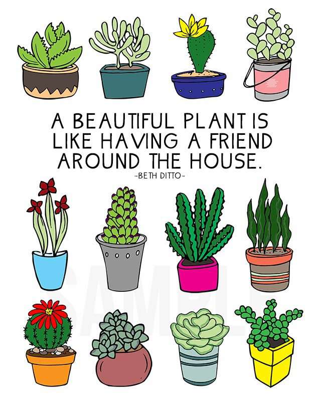 Coloring Sheet For Plant Lovers