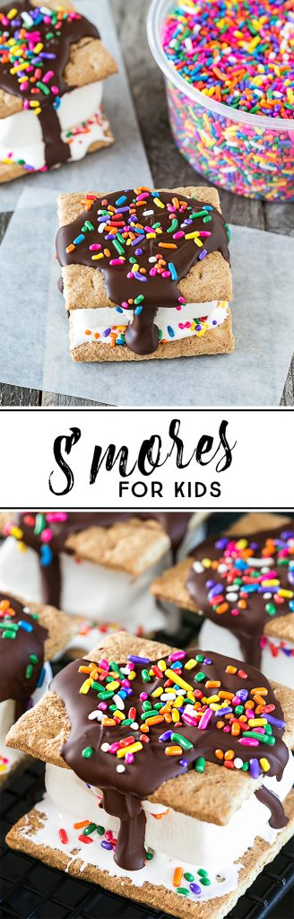 Looking for a s'more recipe for kids? These s'mores will do the trick. They're packed with flavor -- and sprinkles. livelaughrowe.com