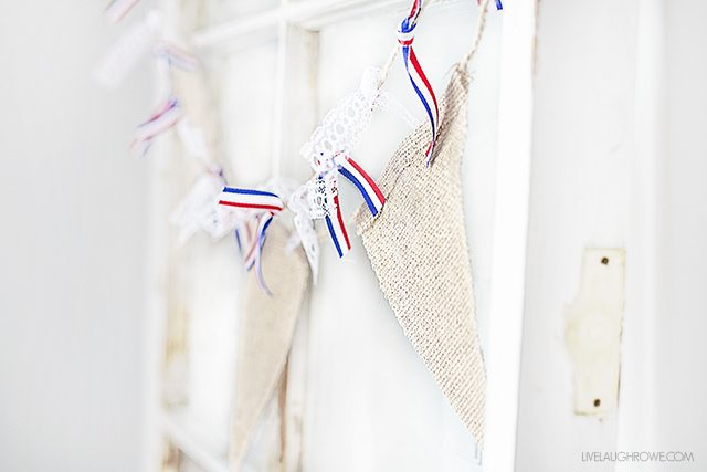 Simple Rustic Patriotic Banner. Love the minimalism too! livelaughrowe.com