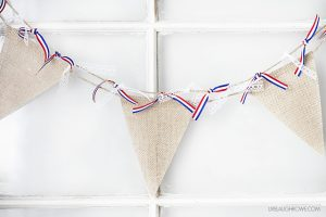 Simple Rustic Patriotic Banner. Love the minimalism too! livelaughrowe.com
