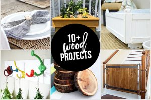 10+ Wood Projects to inspire you! From coasters to herb drying racks, you won't leave disappointed! livelaughrowe.com